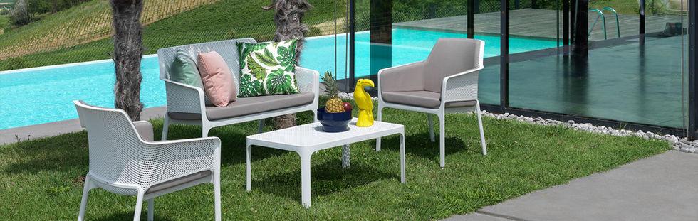 Italian made resin & outdoor cushions