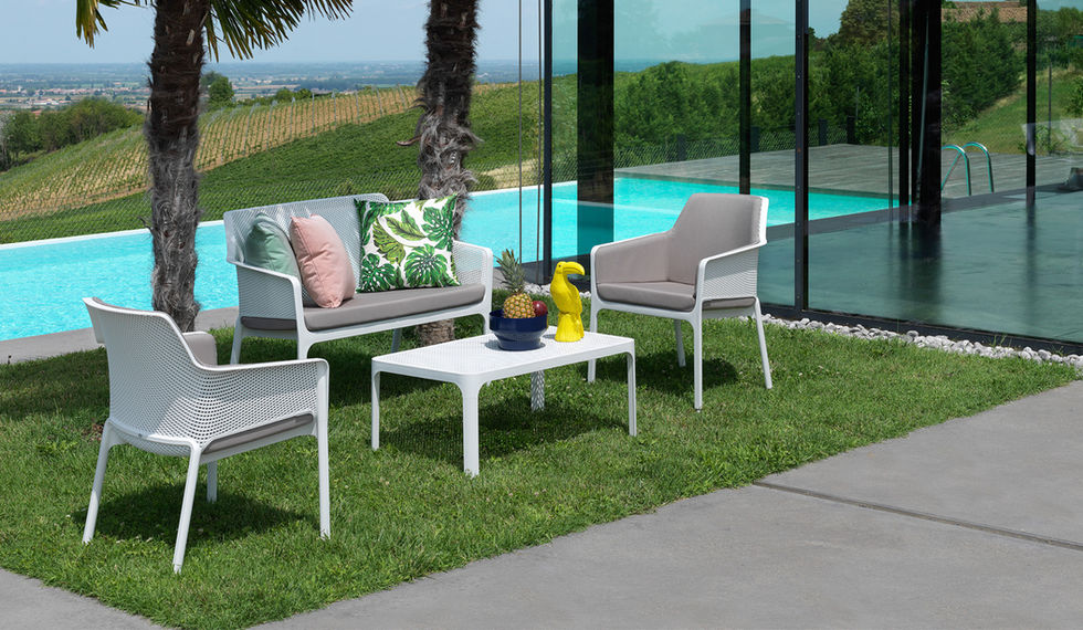 Italian made resin & outdoor cushions