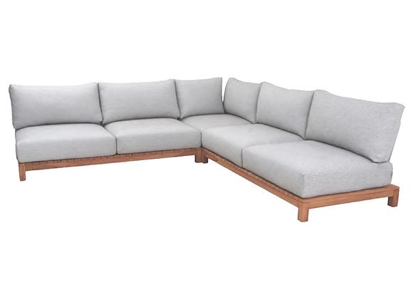 Denmark teak wood corner lounge