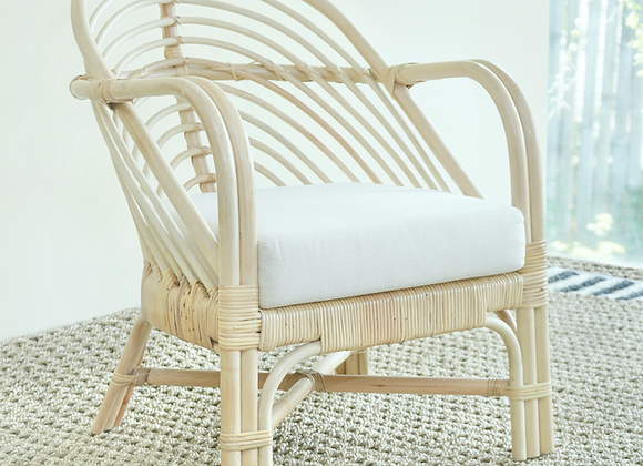 Albion natural cane lounge chair