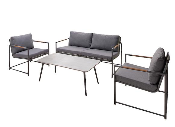 Jasper 4pc lounge - charcoal
