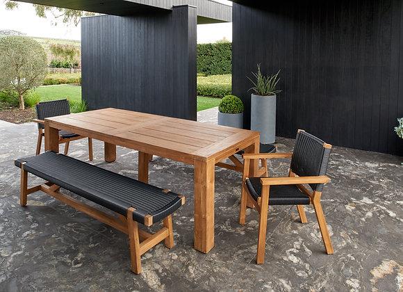 Aegean bench - black