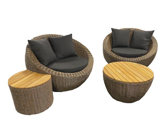 Coast 4pc luxury outdoor pod setting