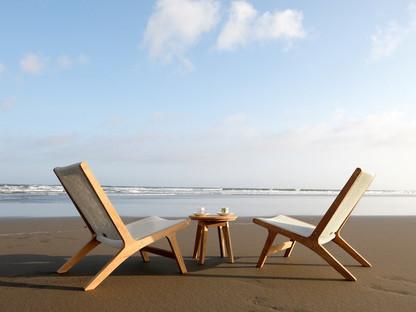 Teak beach relax chairs