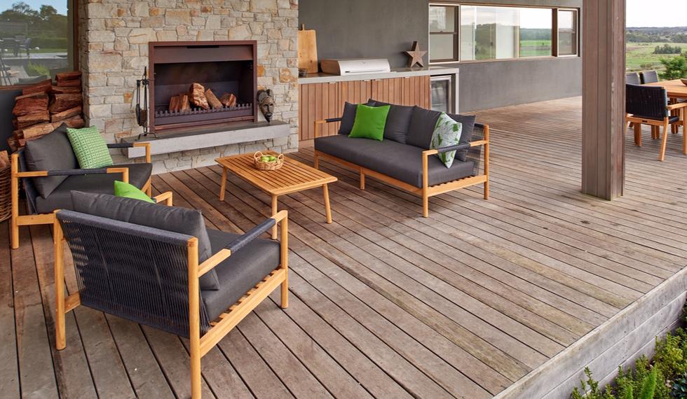 Madrid teak wood outdoor lounge