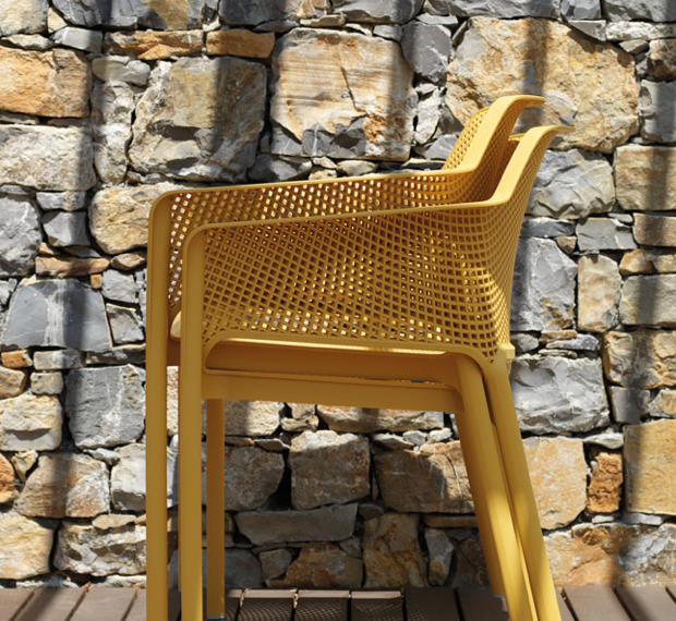 Mustard colour net chairs