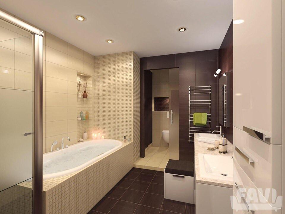 Матовый натяжной потолок в ванной комнате в Сочи