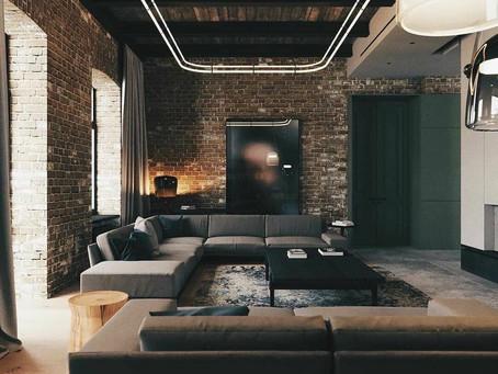 Натяжные потолки в стиле ЛОФТ Сочи