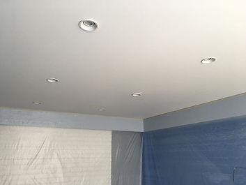 Готовый вариант потолка. Материал черутт