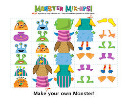 Make a Monster Coloring page