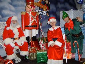 Santa, Mrs Claus & Elves