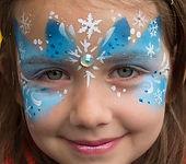 Blue Snow Queen Face Paint