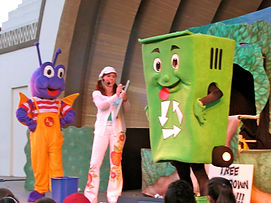 Recycle Bin Mascot Costume Earth Day