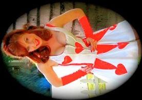 cupid / heart girl singing telrgram