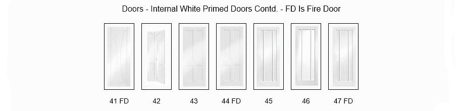 White Primed Doors - Angus Maciver Building Supplies