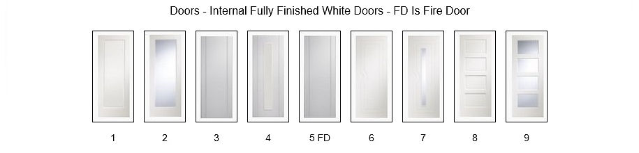 Finished White Doors - Angus Maciver Building Supplies