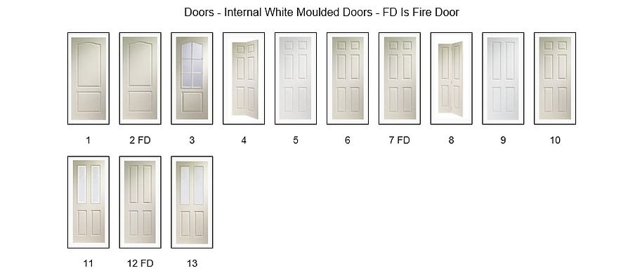 White Moulded Doors - Angus Maciver Building Supplies