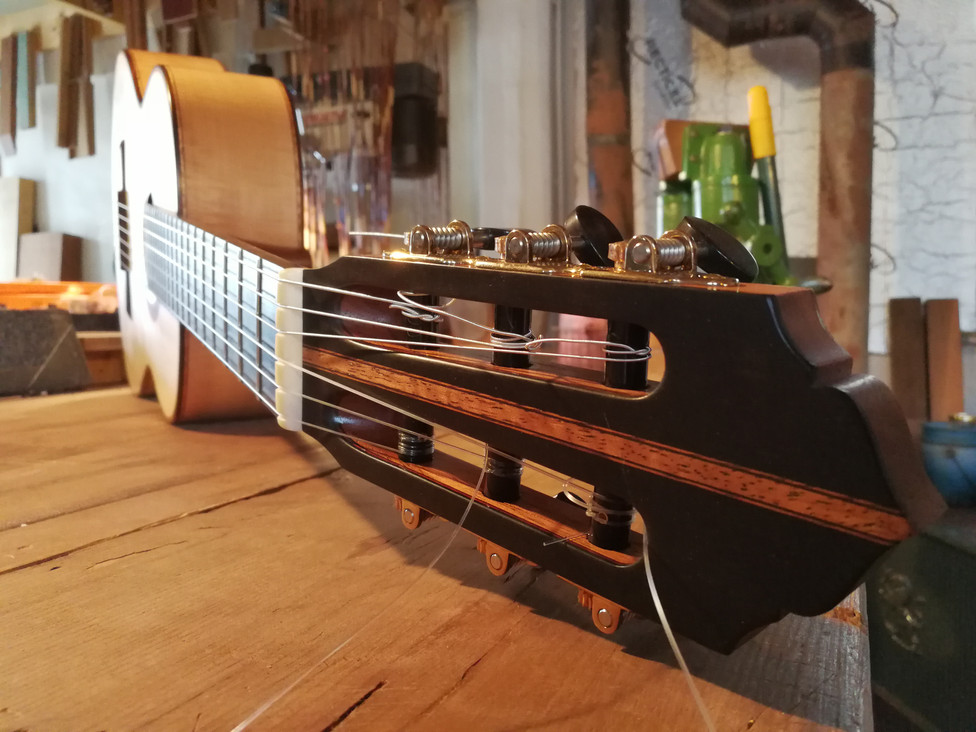 Ebony Headplate with Cedar Inlay