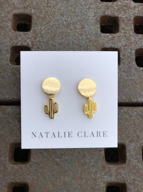 Cactus Earrings on Post