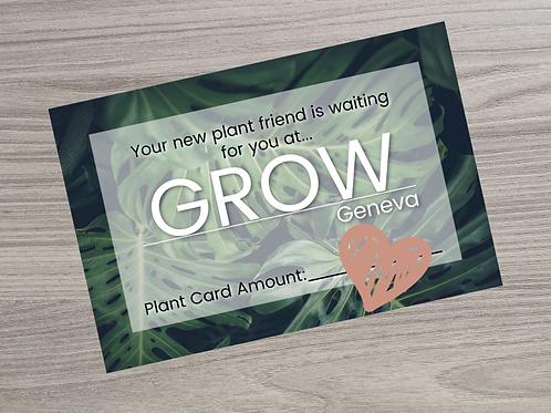 Grow Gift Certificate