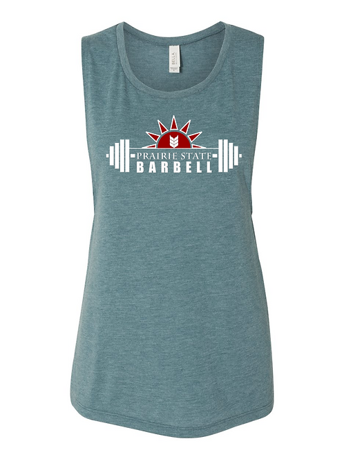 Prairie State Muscle Tank - Steel Blue