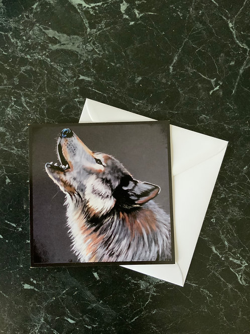 Carte Carrée loup