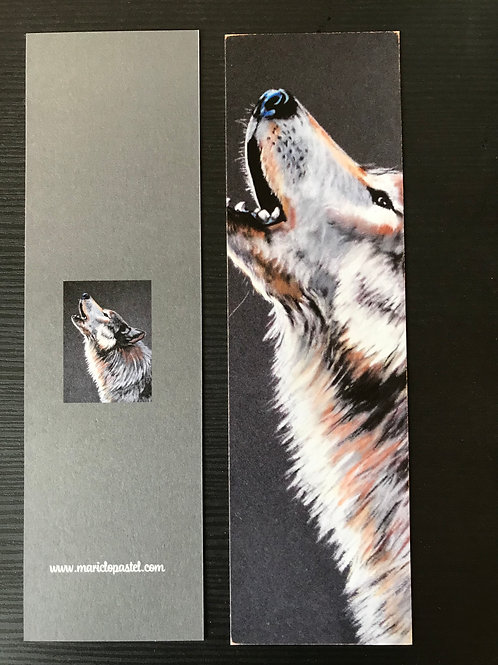 Marque-page Loup