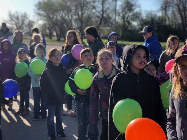 Balloon Release in Honor of Tate Kaiser