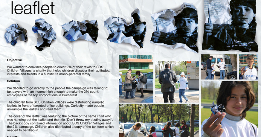 SOS Children Villages - Rumpled Leaflet