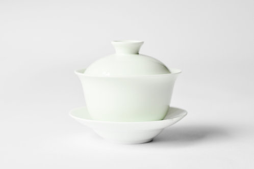 65ml Porcelain GaiBei (Covered Cup) with Saucer
