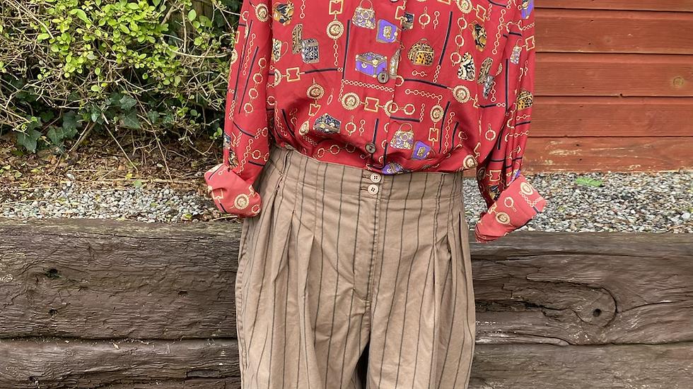 90s Red Print Shirt