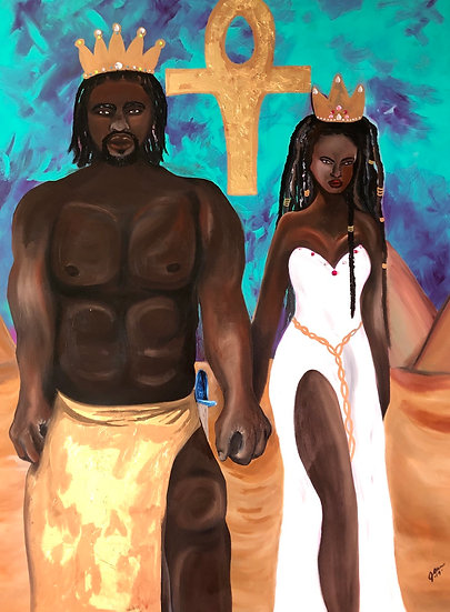 Afrikan Love Original Painting in private collection Charlotte, NC