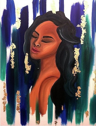 Lady Rain Original Painting