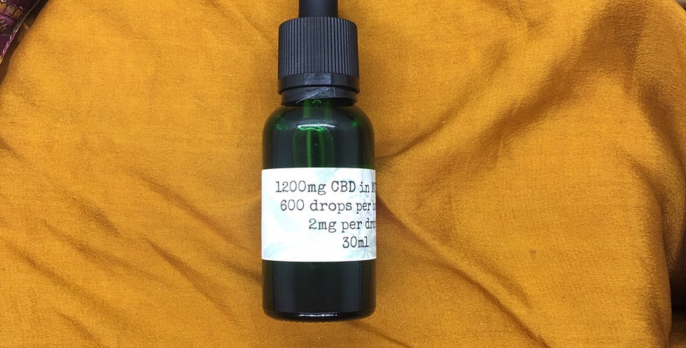 Plain CBD Oil - 1200mg