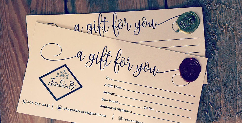 $50 Paper Gift Certificate