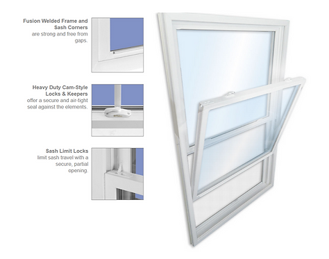 8000 Series Double Hung Window (Installation included)