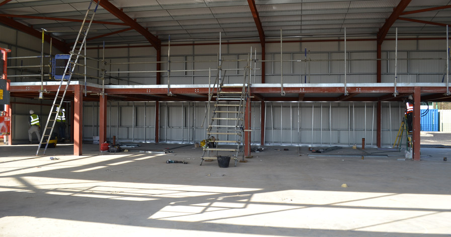 Looking towards the 1st floor offices