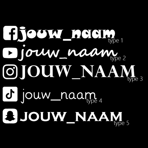 Sticker Sociale Media