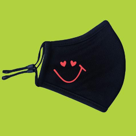 Herbruikbaar mondmasker zwart
