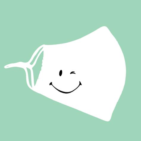 Herbruikbaar mondmasker wit