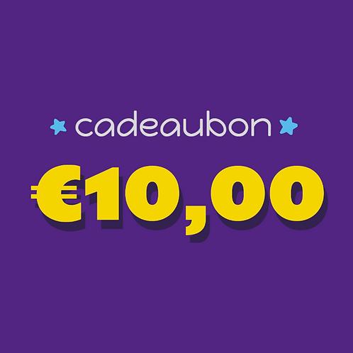 Cadeaubon ter waarde van 10 euro