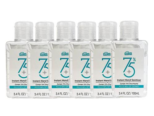 Cleace Instant Hand Sanitizer 75% 100ml - 6 STUKS