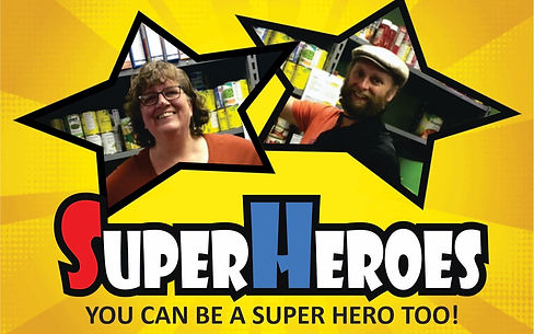 Super Heroes! You can be a super hero too! Pictures of Stratford House of Blessing volunteers
