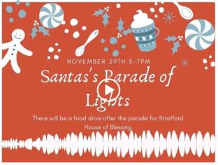 Food Drive at Parade of Lights this Sunday