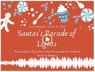 Food Drive at Parade of Lights this Sunday
