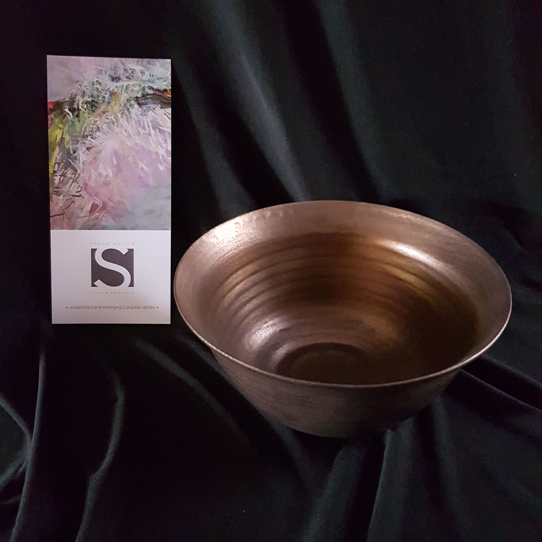 Bronze Glaze Ceramic Bowl