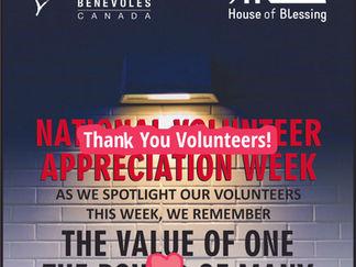 We Appreciate Our Volunteers!
