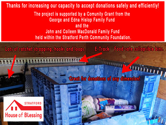Safety Accessories for Transporting Donations