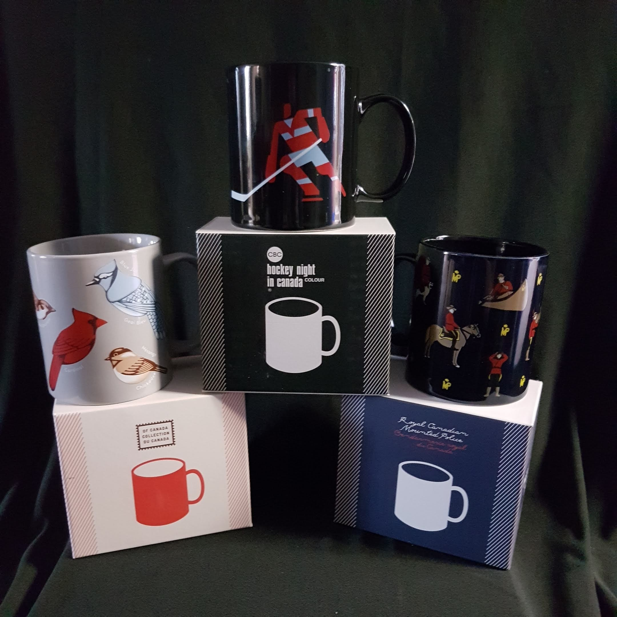 Set of 3 Canadian Mugs