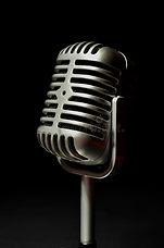 vintage-silver-microphone-black-backgrou